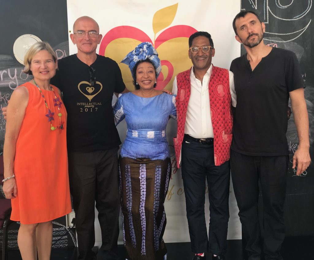 L to R: Monique Labat, Robin Opperman, Rosemary Mangope, Raymond Perrier and Xavier Clarisse